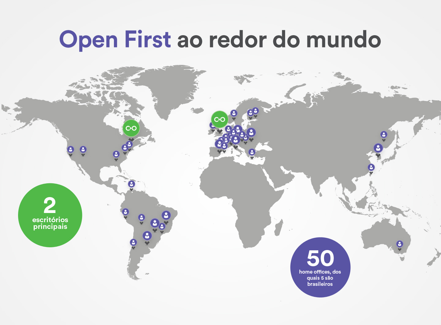 Open First ao redor do mundo